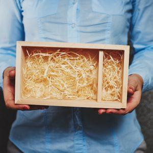 Pudełko drewniane na odbitki 10x15, bez wieka.